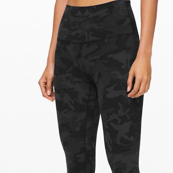 Lululemon Athletica Pants Jumpsuits Black Camo Lululemon Wunder Under Legging Poshmark